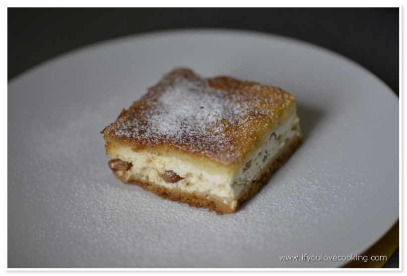 Placinta cu branza dulce si stafide_5