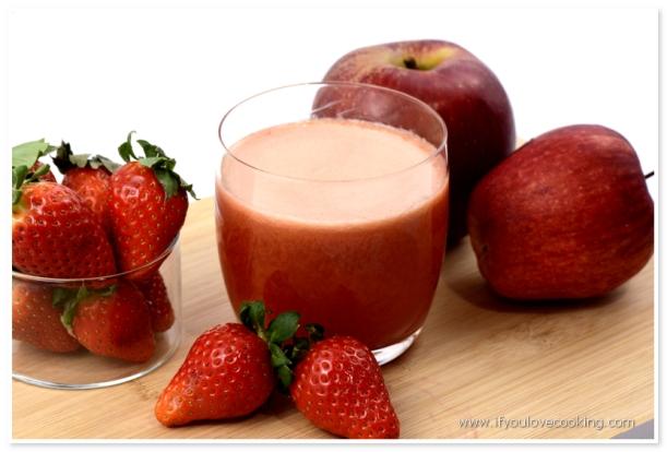 Capsuni & mere Juice