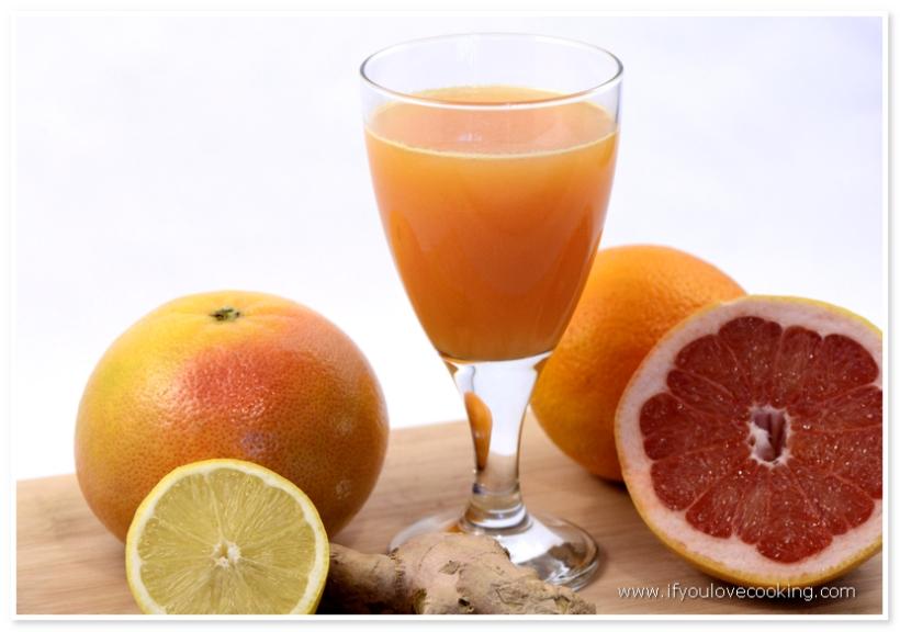 Grapefruits, portocale & ghimbir Juiced