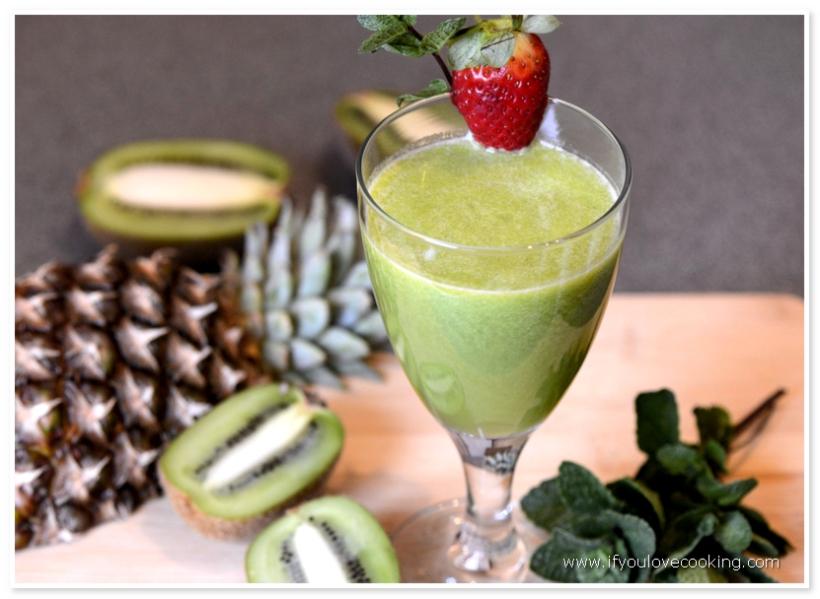 Kiwi, ananas & menta juice
