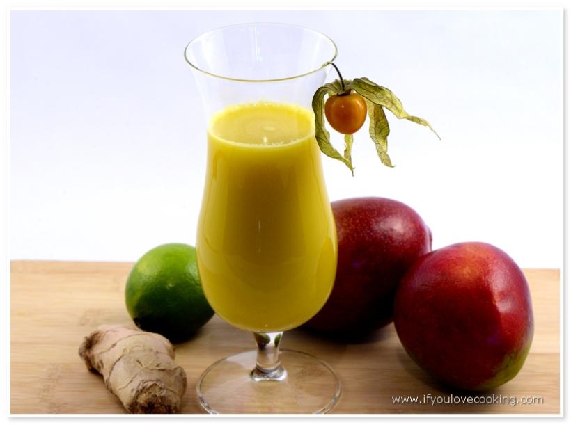 Mango, ghimbir & lime juice