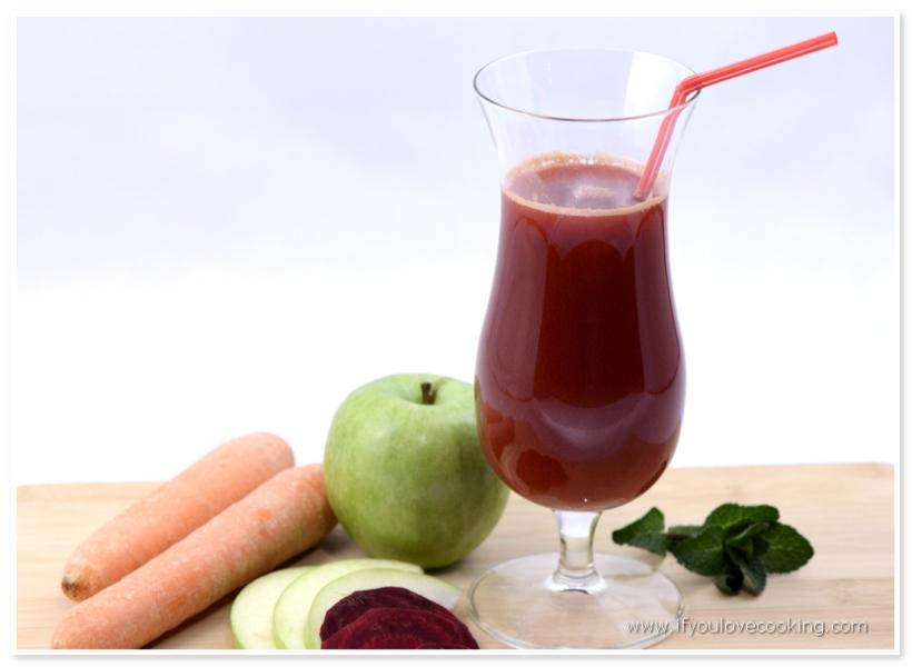 Mar, morcov & sfecla rosie juice