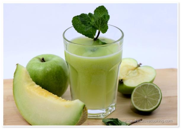 Pepene galben, mere & menta Juice