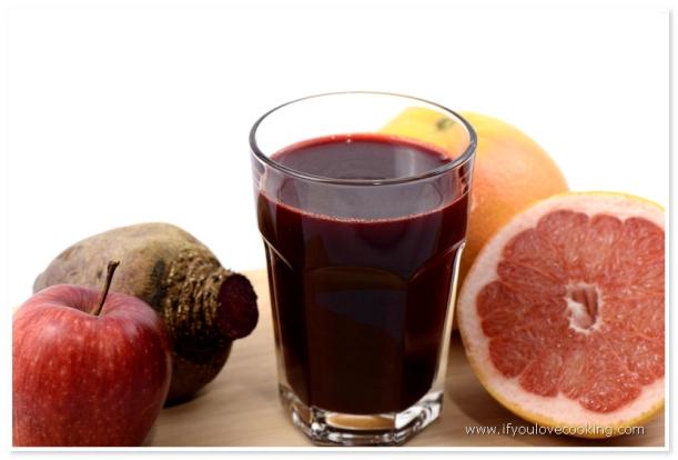 Sfecla rosie, mere,& grapefruits