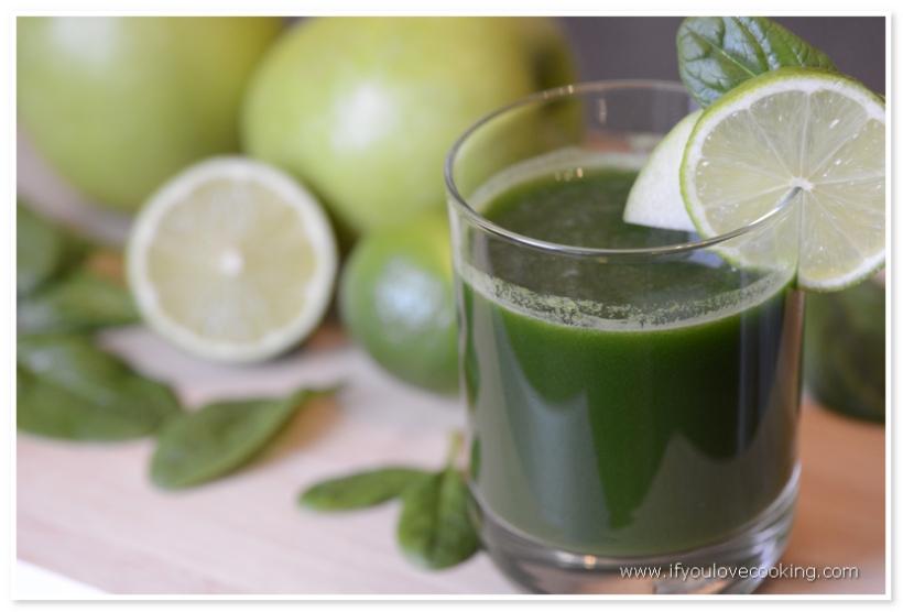 Spanac, mar & lime juice