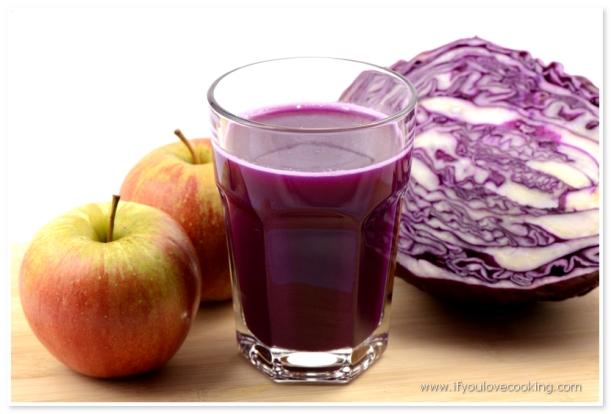 Varza & mere Juice