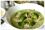 Supa crema de broccoli si fasole