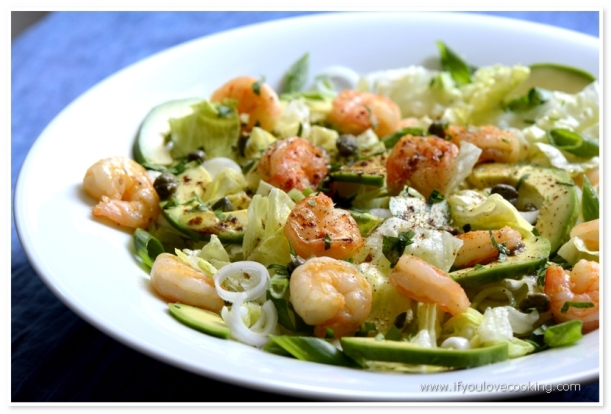 Salata de creveti cu avocado
