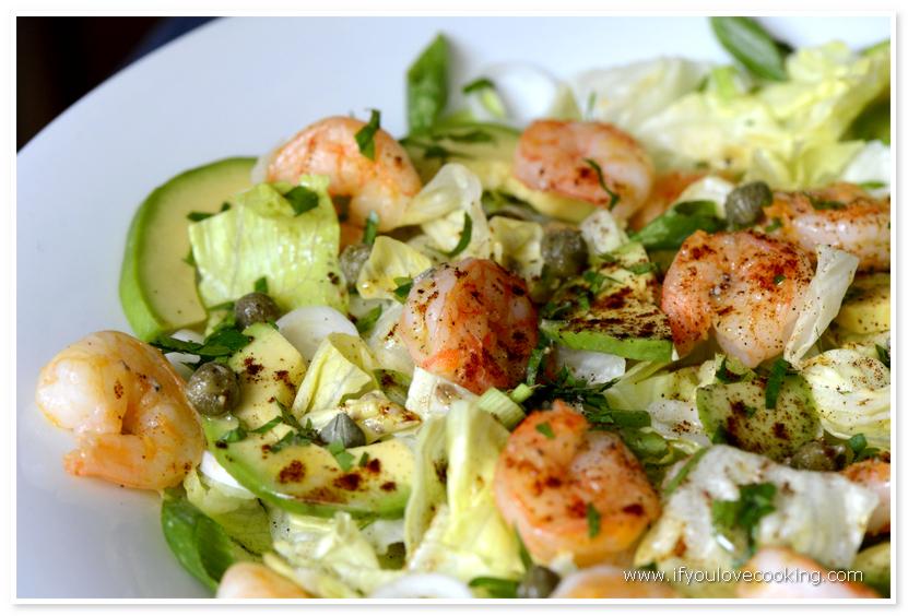 Salata avocado cu creveti