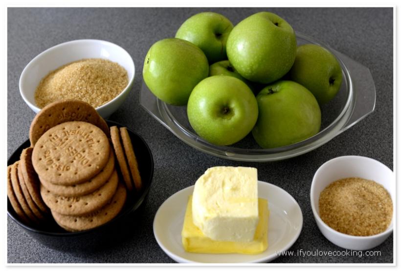 Tarta cu mere si biscuiti_2