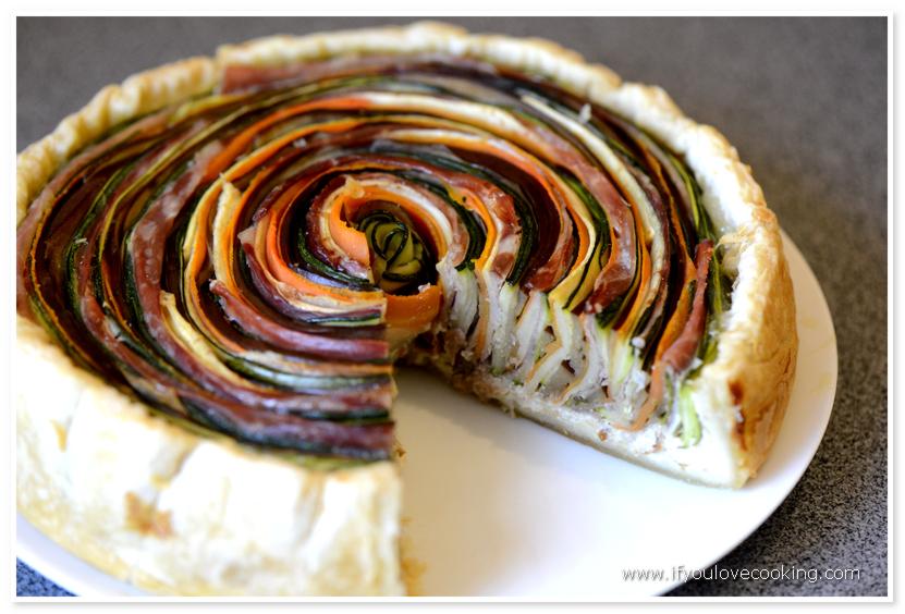 Tarta multicolora cu legume si prosciutto_1