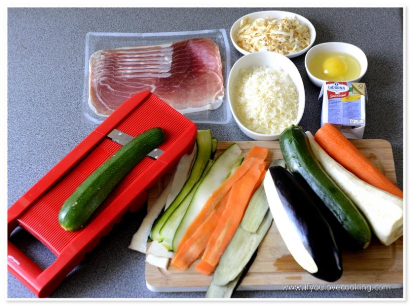Tarta multicolora cu legume si prosciutto_2