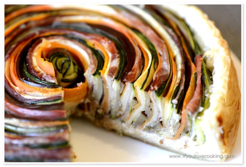 Tarta multicolora cu legume si prosciutto_4