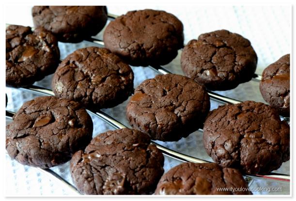 Cookies double chocolate