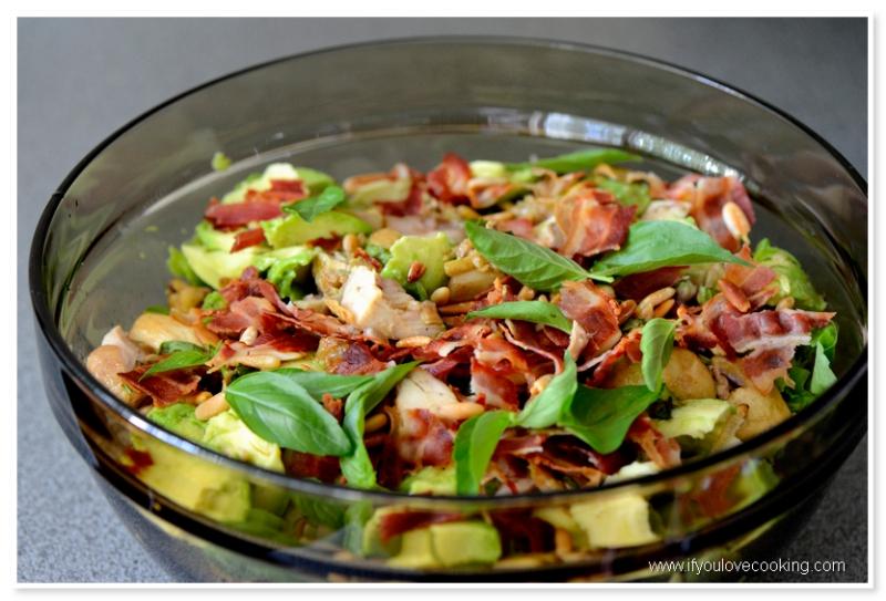 Salata de pui cu ciuperci marinate_2